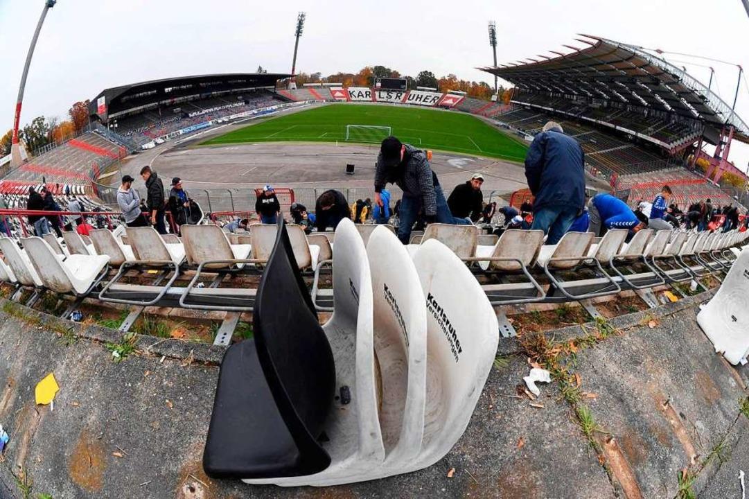 Provisorisch wird es während des Umbaus des Wildparkstadions so oder so zugehen.  | Foto: dpa