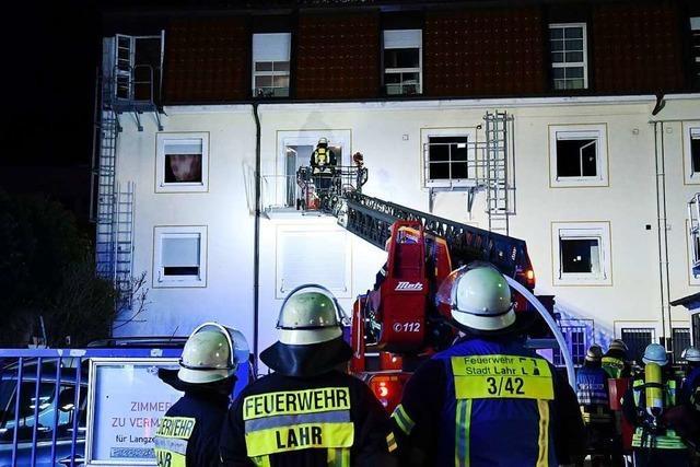 Großeinsatz der Lahrer Feuerwehr um Mitternacht