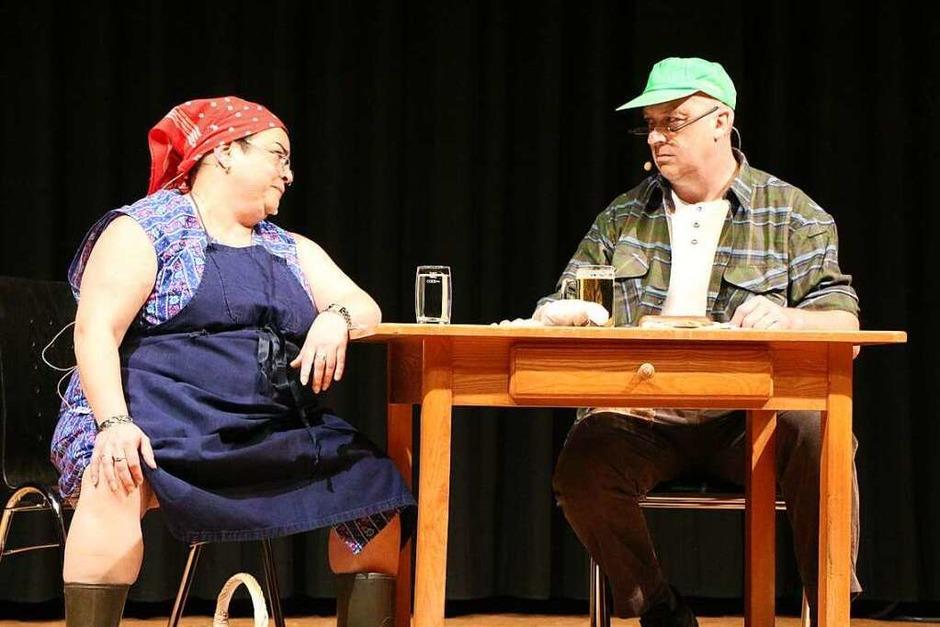 Alexa Bauer und Norbert Wagner machten gewohnt humorvoll den Anfang. (Foto: Helmut Hassler)