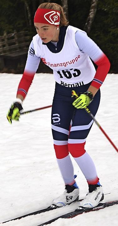 Mali Brugger wurde Dritte in der Klasse U15.   | Foto: Junkel