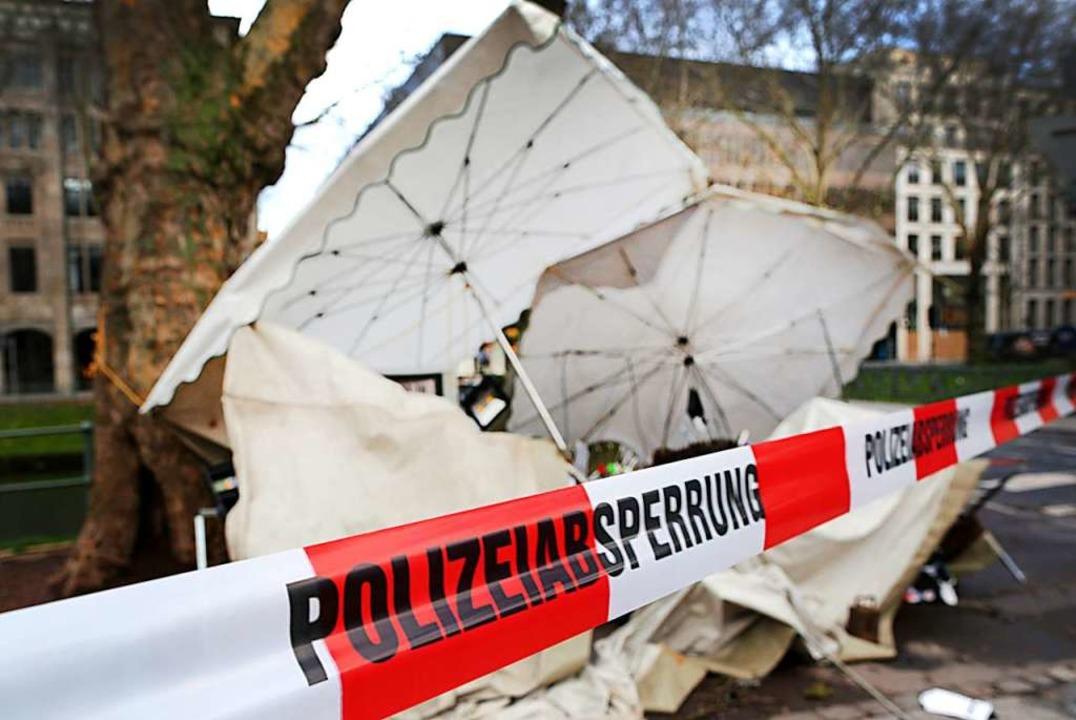 In Düsseldorf gab es durch Bennet bere...turmschäden. Was passiert in Südbaden?  | Foto: dpa