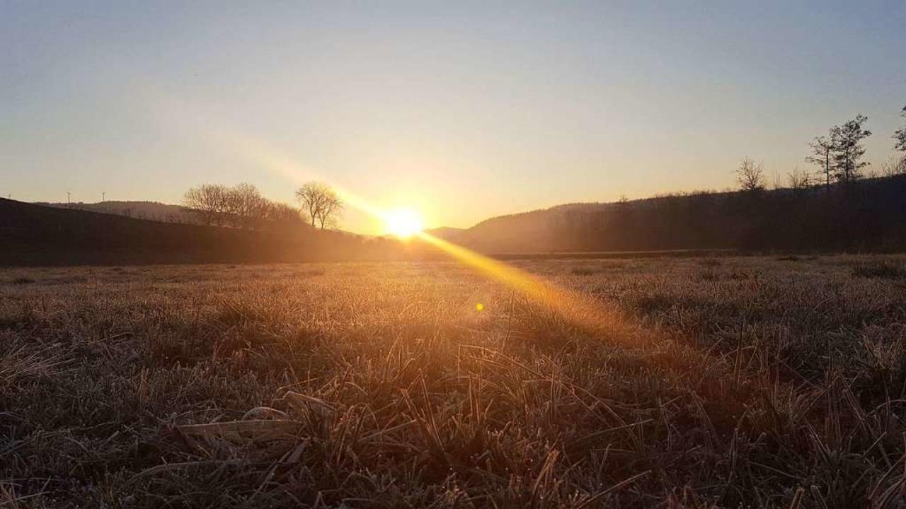 Am 28. Februar gab es im Erlenried in ...bei Bodenfrost um die minus fünf Grad.  | Foto: Patrick Ohnemus