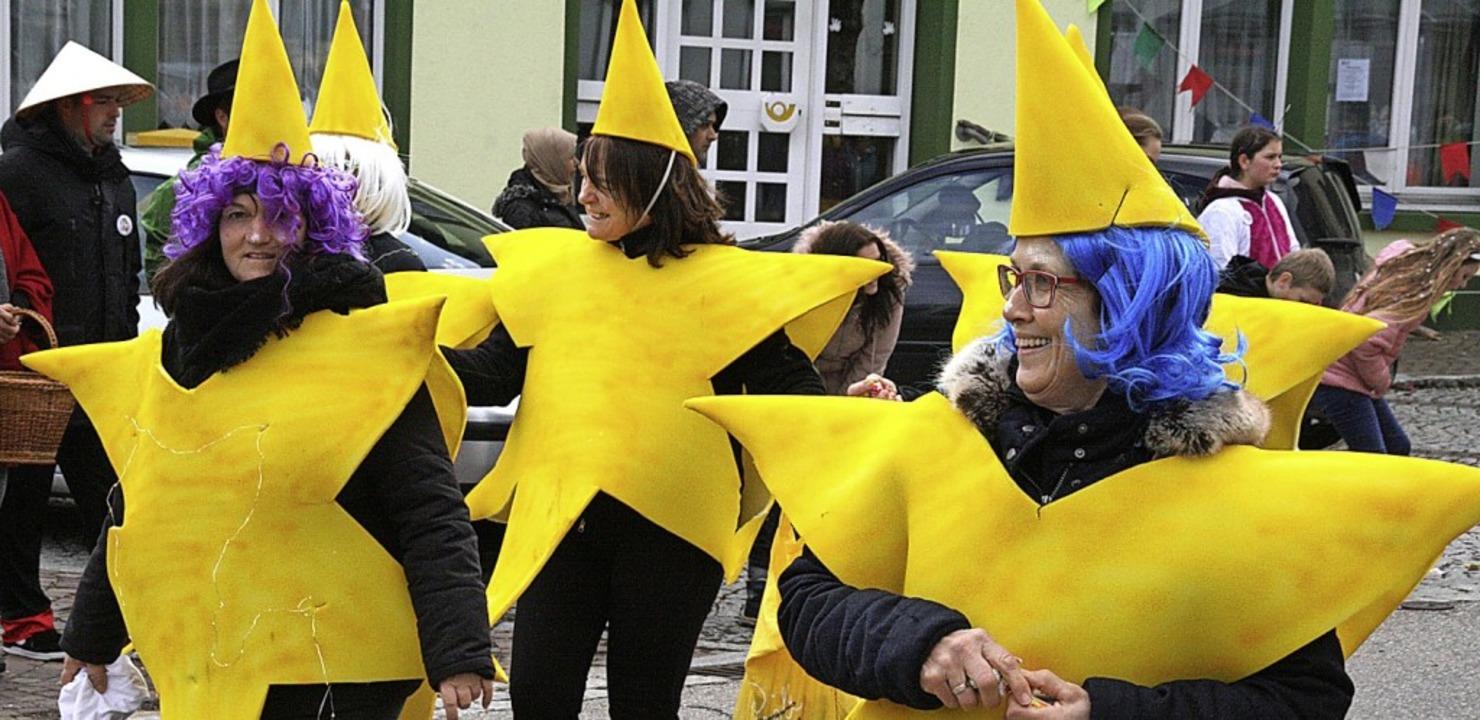 Die gelben Sterne waren ein Hingucker.
