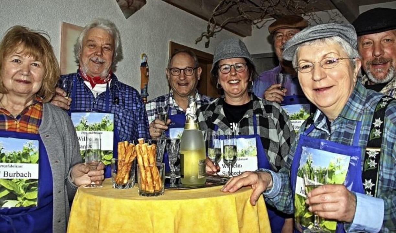 Ortsvorsteher Michael Jäckle, (Dritter...efritz Manfred Kaiser und Ulrike Beck.    Foto: Babette Staiger