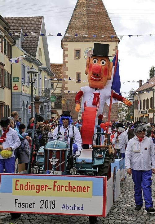 Umzug in Endingen: Nach 55 Jahren Fasn...cker Abschied von der Endinger Fasnet.  | Foto: Ruth Seitz