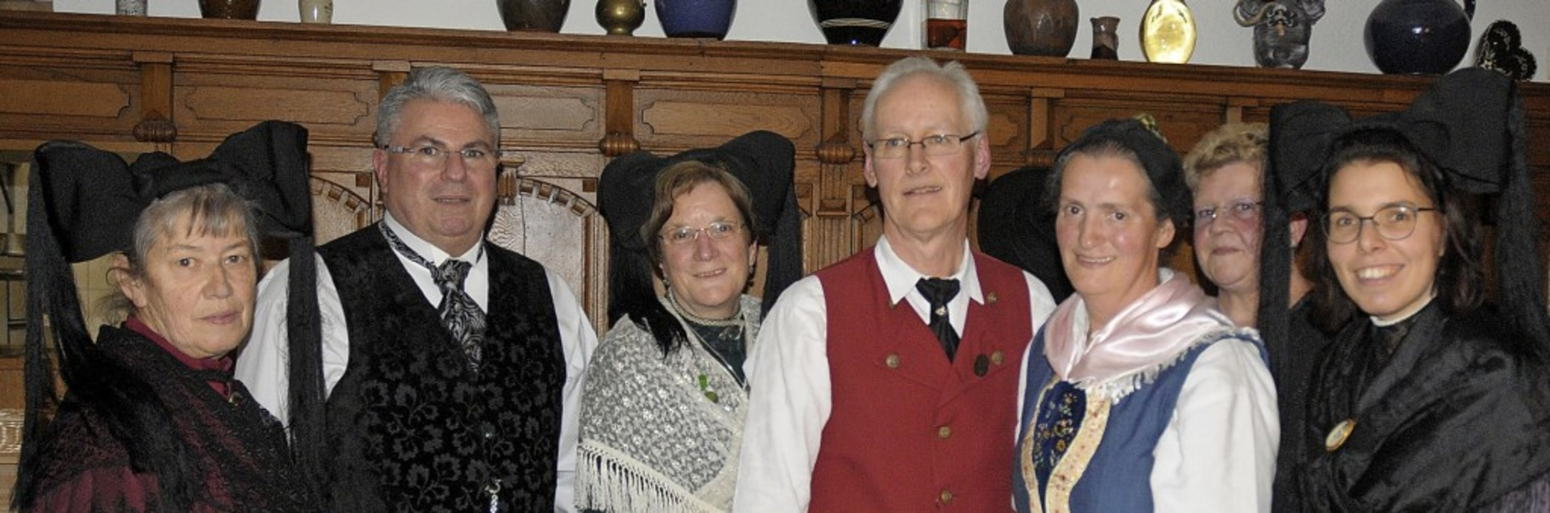 Der Vorstand des Markgräfler Trachtenv...harina Dörling und Barbara Mayer-Adolf    Foto: OUNAS