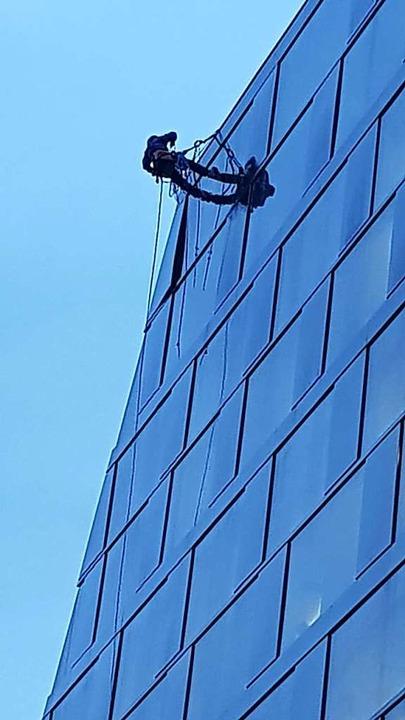 An der Fassade wurden Sicherungsarbeiten durchgeführt.  | Foto: Sebastian Wolfrum