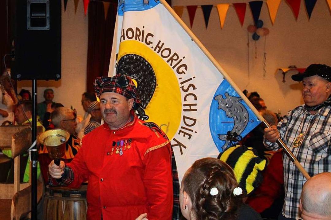Einzug des Narrenrats beim Narrenschoppen  | Foto: Karin Heiß