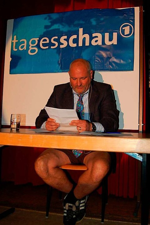 Tagesschau mit Rainer Schwill    Foto: Christian Ringwald