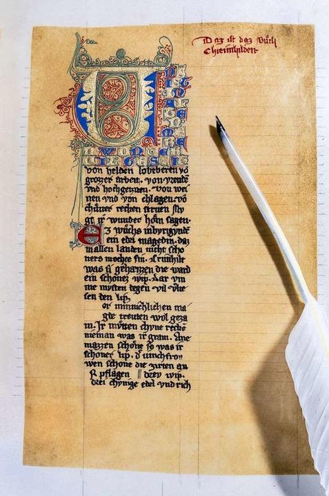 Das Nibelungenlied (14. Jahrhundert)  | Foto: Hans-Juergen van Akkeren