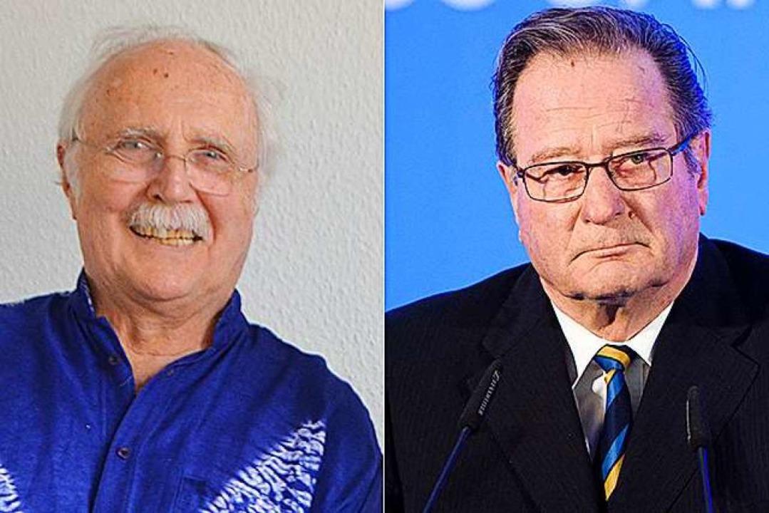 Peter Haas (links) hat noch vage Erinn...en einstigen Mitschüler Klaus Kinkel.     Foto: Gerhard Walser/dpa