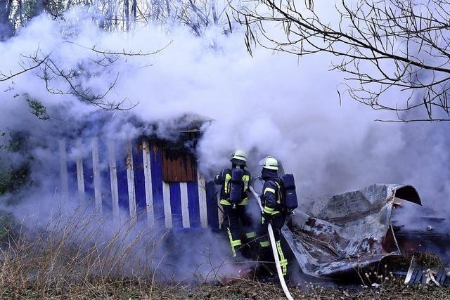 Bauwagen abgebrannt
