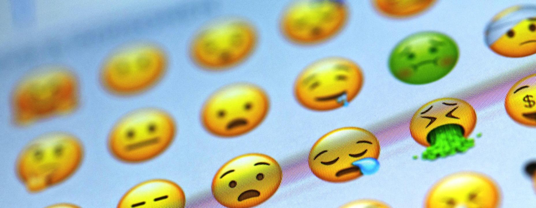 Für jedes Gefühl das passende Zeichen: Emojis für Messanger-Nachrichten     Foto: dpa