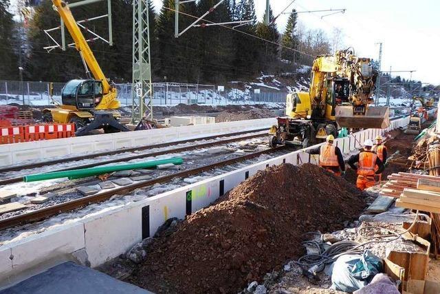 Bauarbeiten im Bahnhof von Neustadt kommen voran
