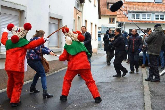 Dreharbeiten für Schwarzwald-Tatort während Elzacher Fasnet