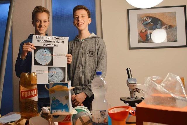 Rheinfelder Jungforscher haben einen Filter für Waschmaschinen entwickelt
