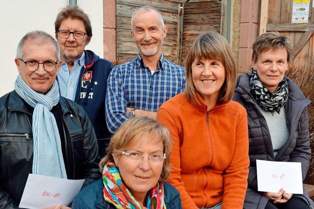 Freude vor der Oberrieder Klosterschii...i Gutmann und Sabine Feis (von links).  | Foto: Gerhard Lück