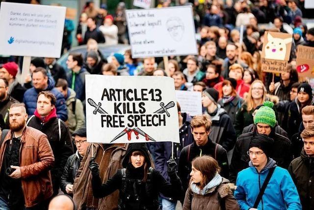 Es regt sich viel Widerspruch gegen die EU-Urheberrechtsreform und Artikel 13