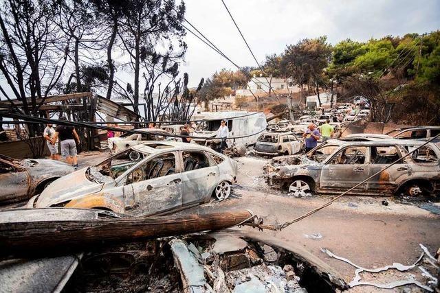 Im Juli erliegen 100 Menschen einem Feuer bei Athen – jetzt beginnt die Aufklärung
