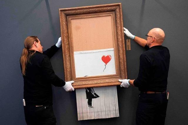 Geschreddertes Banksy-Bild kommt nach Stuttgart