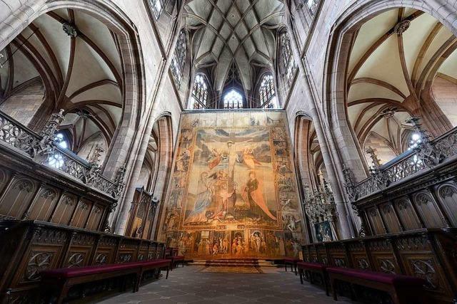 Das Fastentuch hängt wieder im Münster