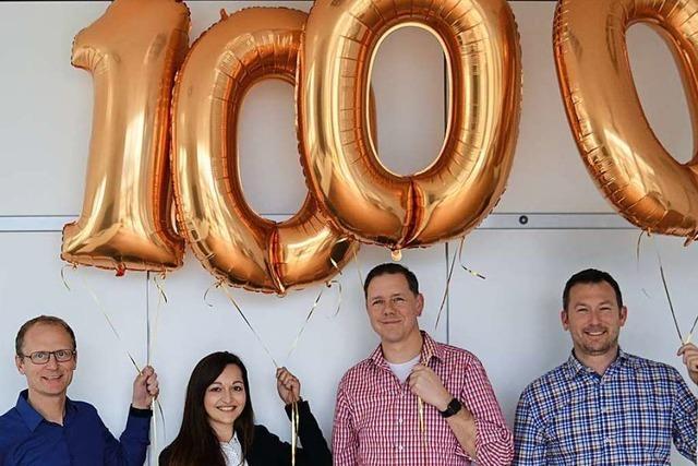 Testo begrüßt in Kirchzarten die 1.000. Mitarbeiterin