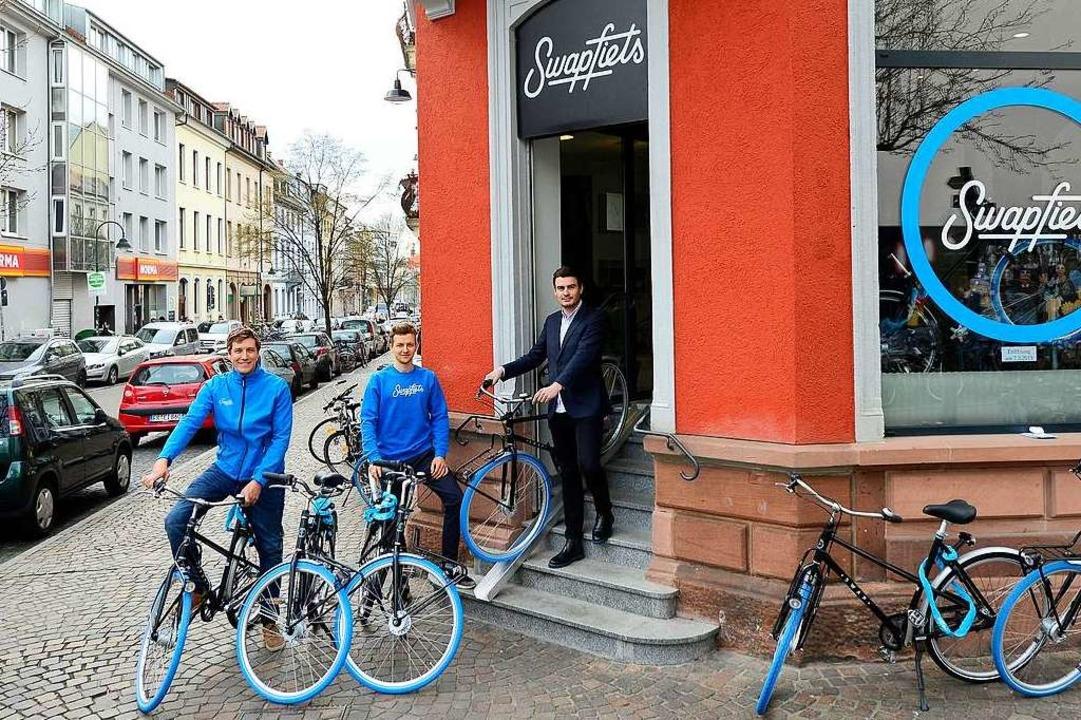 Die Freiburger Filiale von Swapfiets i...temporärer Pop-up-Store bis Ende Juni.  | Foto: Ingo Schneider