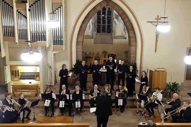 Kirchenkonzert in St. Georg in Denzlingen mit dem Vokalensemble Contrapunkt und dem Posaunenchor