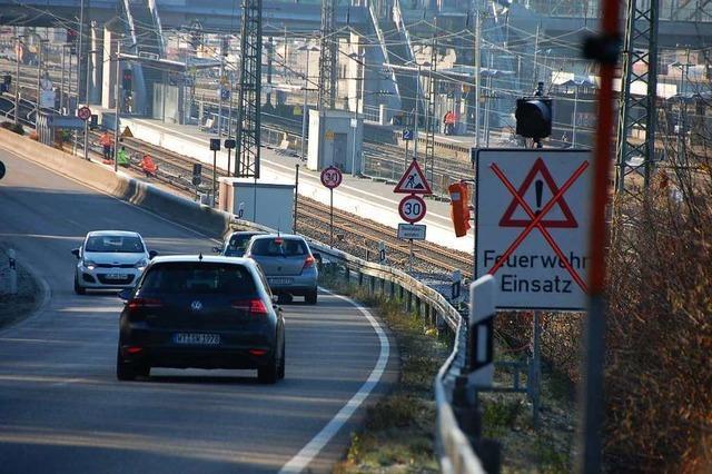 Die Sperrung der B 3 in Weil am Rhein ist bis Montag aufgehoben