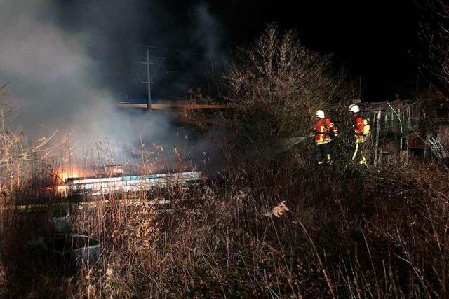 Gartenhütte niedergebrannt