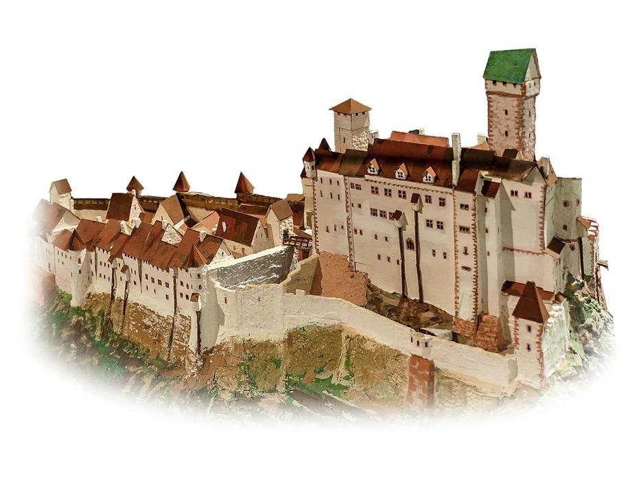 Im Modell: die Burg Rötteln um 1650, z...en in der Dauerausstellung des Museums  | Foto: r.frey