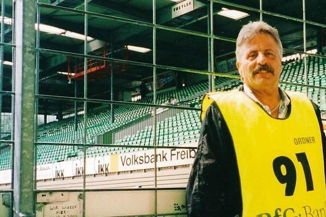Aurelio Nieddu war 30 Jahre lang Ordner beim SC Freiburg