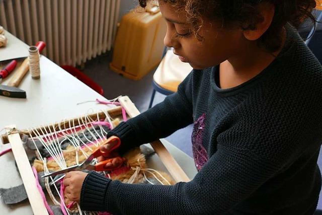 Grundschüler in Schallstadt werkeln in der Ferienbetreuung