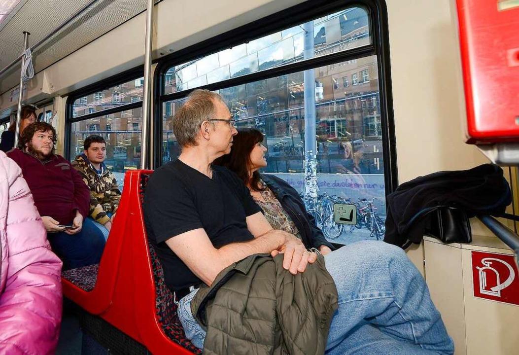 Sightseeing in der Straßenbahn    Foto: Ingo Schneider