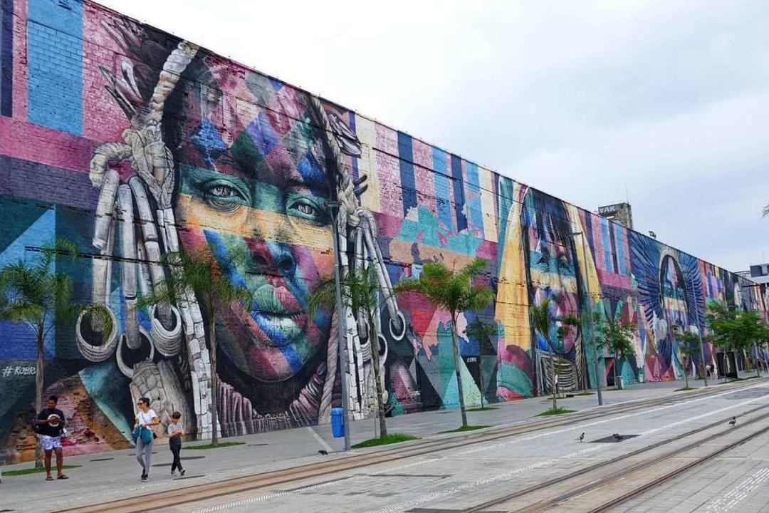 Street Art: am Olympischen Boulevard    Foto: Franziska Dölling