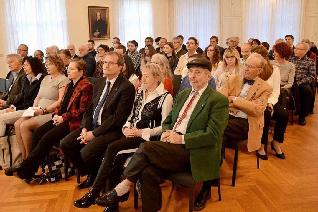 Viele Gäste waren im Haus Salmegg.  | Foto: Horatio Gollin