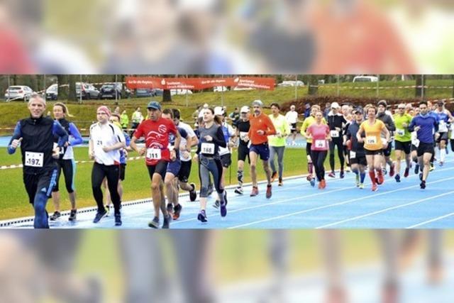 Die Läufer trotzen den Windböen
