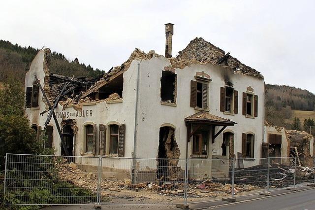 Die Flammen haben alles zerstört