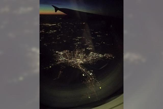 Flug über Freiburg