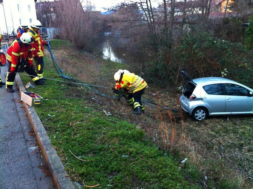 Das verunglückte Auto   | Foto: Cremer