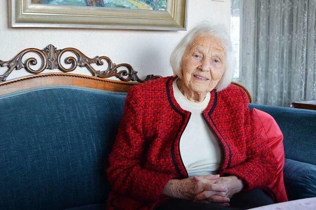 Gertrud Frey spricht im BZ-Interview über ihren 100. Geburtstag
