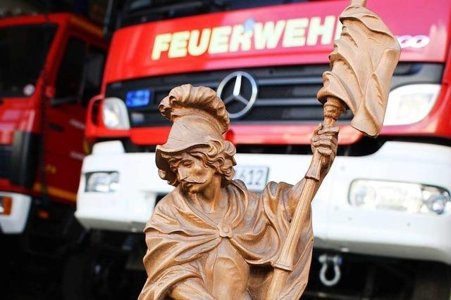 Der heilige Florian ist Patron der Feuerwehr