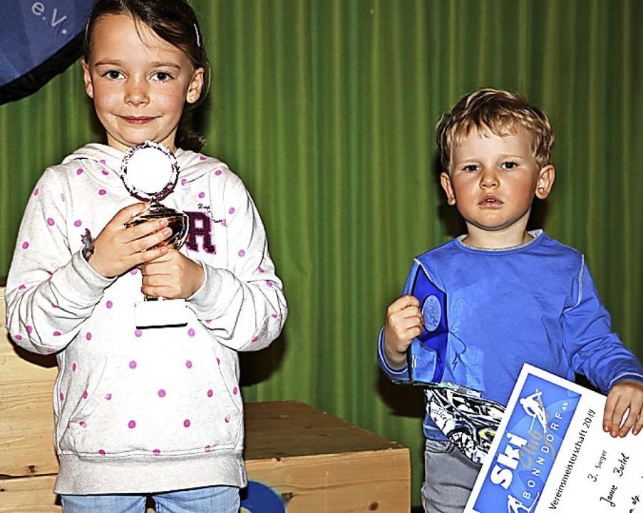 Sie sind die jüngsten Teilnehmer der d...Selz und der dreijährige Janne Bartel.    Foto: Martha Weishaar