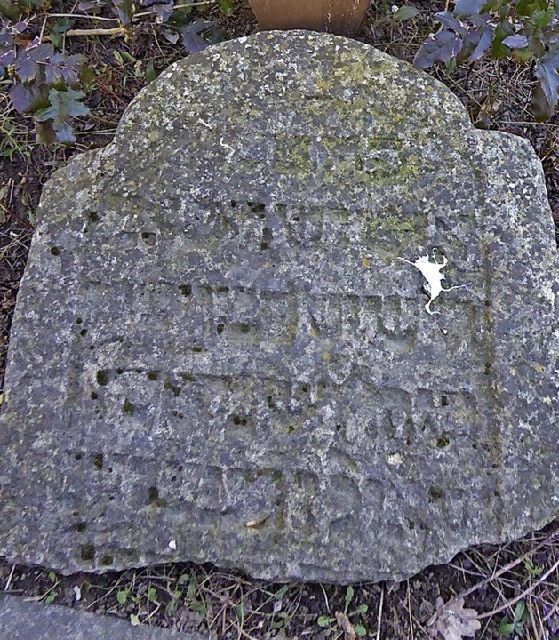 Dieser Grabstein stammt vom ehemaligen...n. Er wurde im Hause Dankers entdeckt.  | Foto:  Edelgard Bernauer