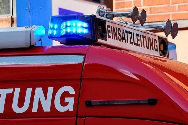 Eine Benzinspur sorgt für einen Großeinsatz der Lörracher Feuerwehr