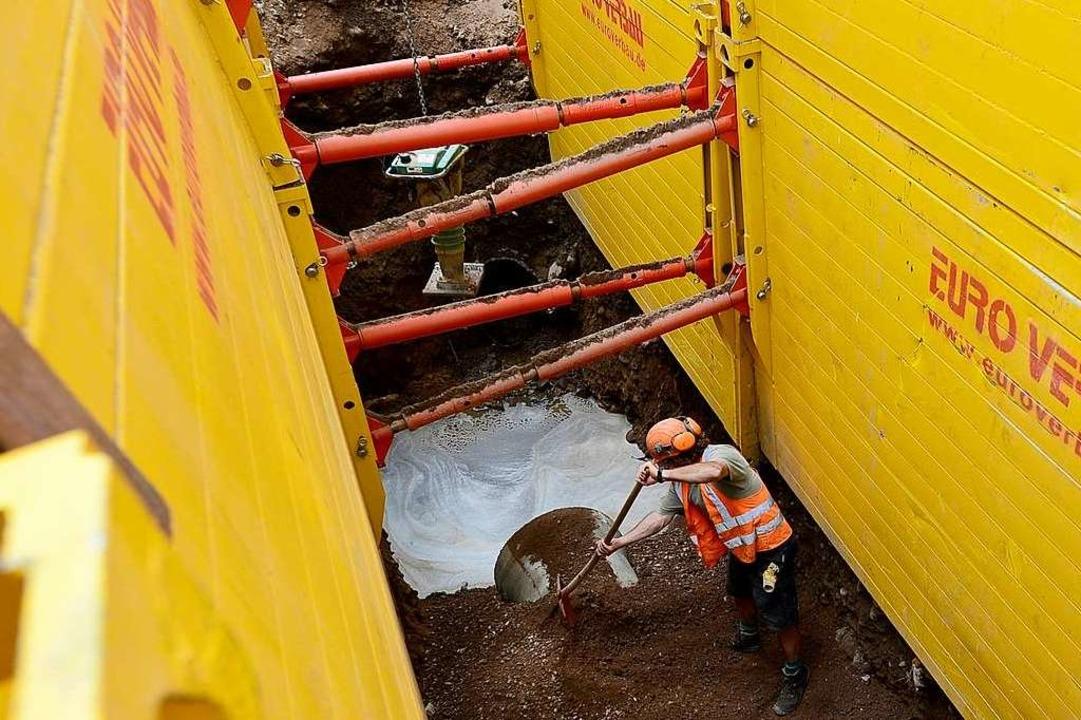In der Hartmannstraße werden Kanalbauarbeiten vorgenommen. Symbolbild.  | Foto: Ingo Schneider