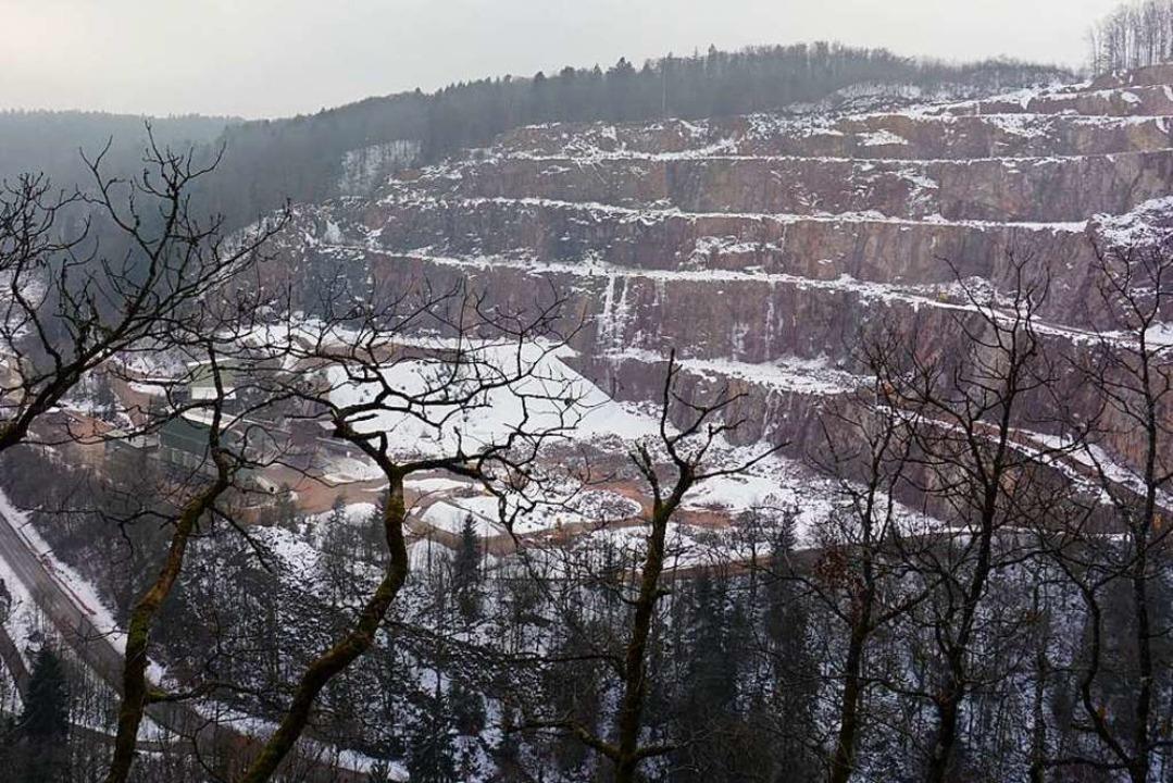 Um  fünf Hektar könnte der Steinbruch ...die Gemeinde Görwihl und viele Bürger.  | Foto: Hans-Jürgen Sackmann