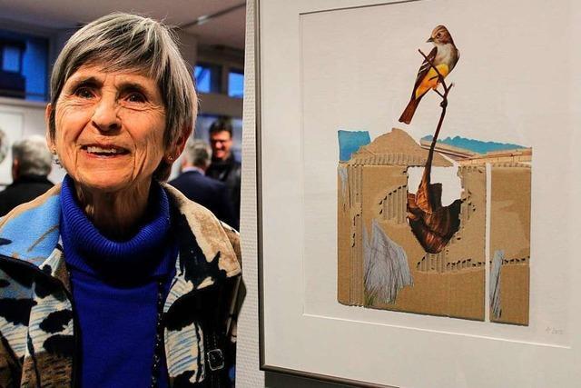 Ilse Altrogges Collagen und Bilder sind in Kirchzarten zu sehen