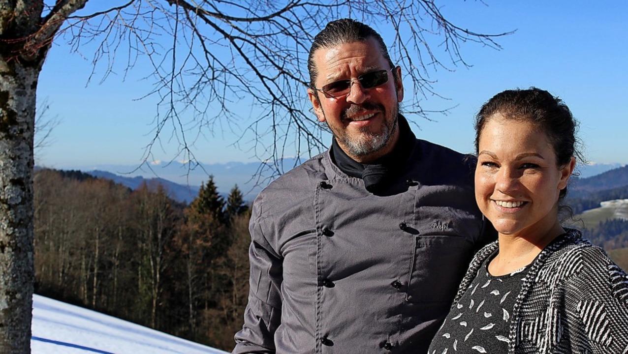 Kathleen Bliedtner und Paul Hammelehle fühlen sich auf dem Lindenberg wohl.     Foto: Erich Krieger