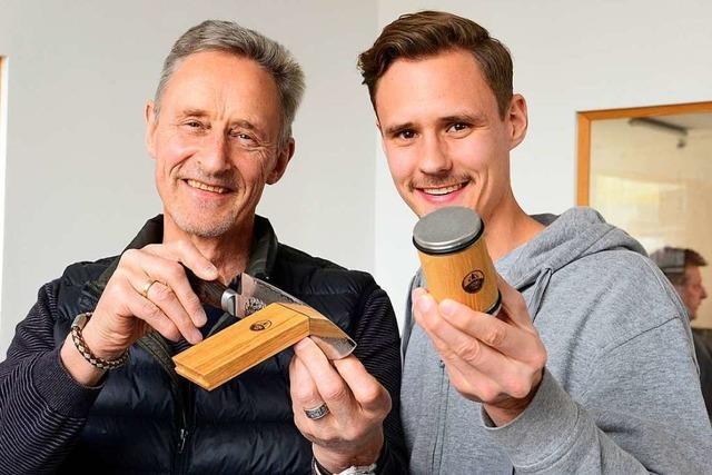 Vater und Sohn aus Freiburg wollen das Messerschleifen vereinfachen